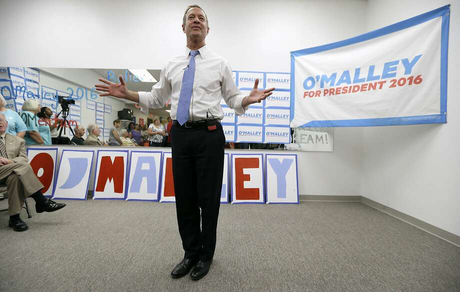 Democratic presidential candidate former Maryland Gov. Martin O'Malley is scheduled to make his first campaign visit to the Bay Area Aug. 19-20. Photo: Charlie Neibergall, Associated Press