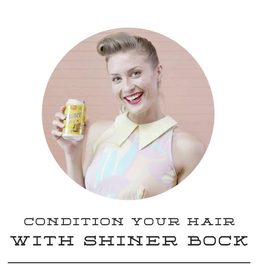Birds Barshops in Austin are offering a free service: Washing customers' hair with Shiner Bock beer. Photo: Courtesy Photo