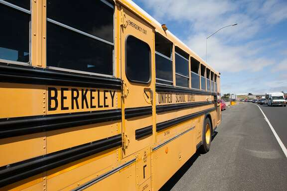 A multiple car crash on 1-80 West near the Powell Street exit, involving a school bus left 15 people reportedly injured in Berkeley, California, on Monday, Aug. 10, 2015.