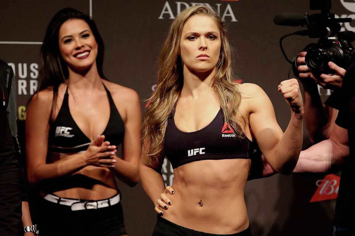 Fighter Ronda Rousey pitches for the Cinnamon Swirl French Toast Breakfast Sandwich at Carl's Jr. and Hardee's.