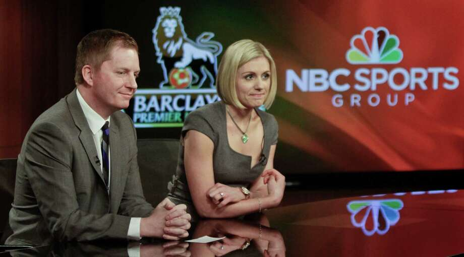 Arlo White and Rebecca Lowe are among the on-air talent for NBC Sports' coverage of the Premier League, the top English professional league for association soccer clubs. On Monday, NBC Sports, whose main studio headquarters is in Stamford, announced a six-year extension of its deal to cover the Premier League. (AP Photo/Bebeto Matthews) Photo: Bebeto Matthews / AP / AP