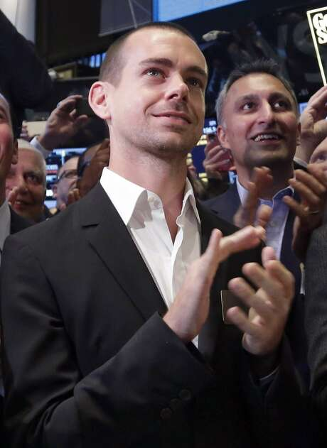 "Jack Dorsey, Twitter interim  CEO and co-founder, just bought 31,000 shares of the company's stock as an investment ""in Twitter's future."" But some critics think it's only a PR to shore up public opinion. Photo: Richard Drew, Associated Press"