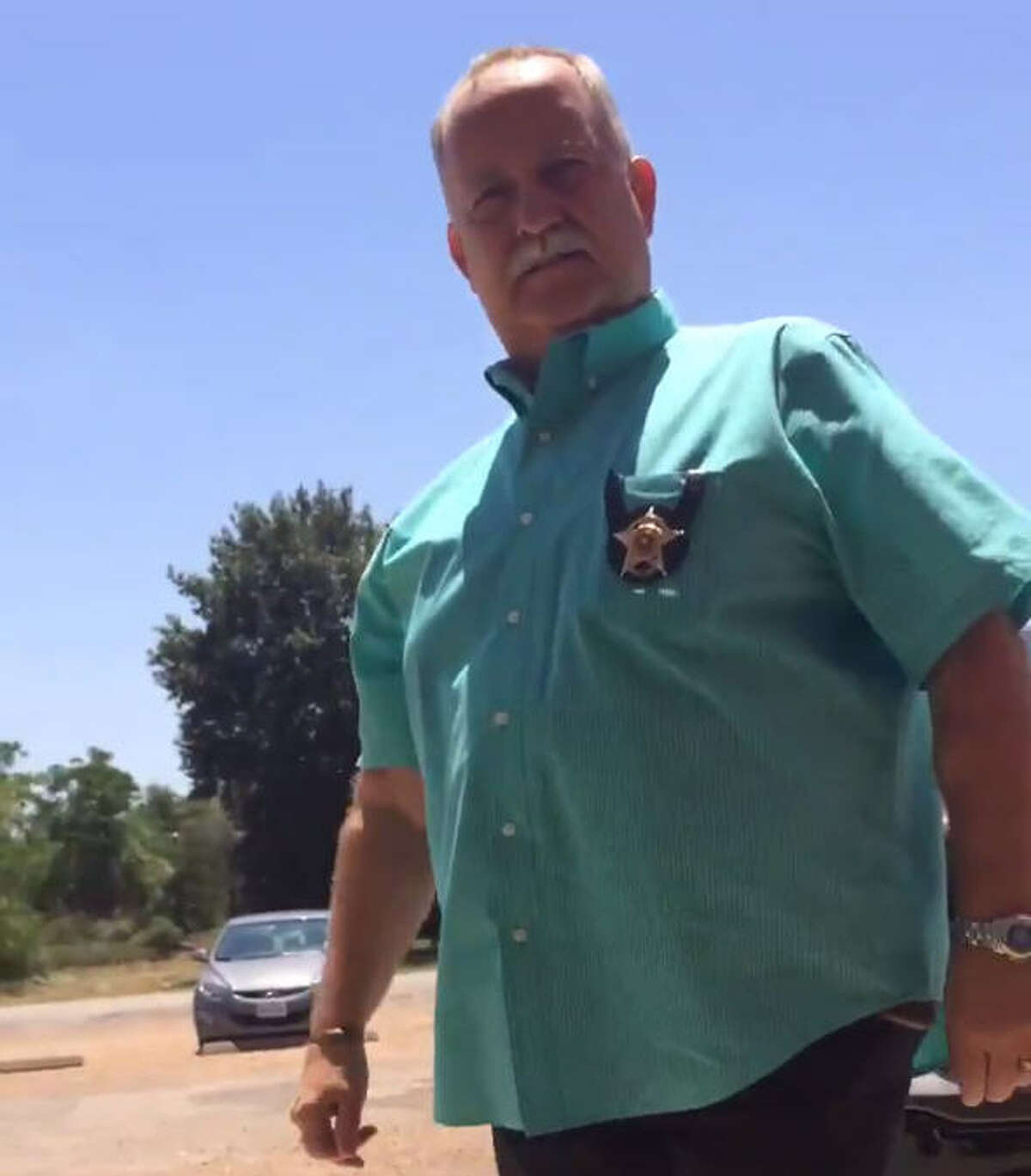 Houston clergy member Hannah Adair Bonner tweeted a video of Waller County Sheriff Glenn Smith suggesting she return to her