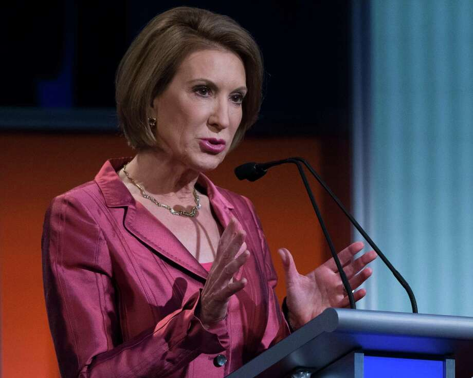 """Carly Fiorina was concise, on-message and presidential's during last week's """"Happy Hour"""" GOP debate. Photo: John Minchillo /Associated Press / AP"""