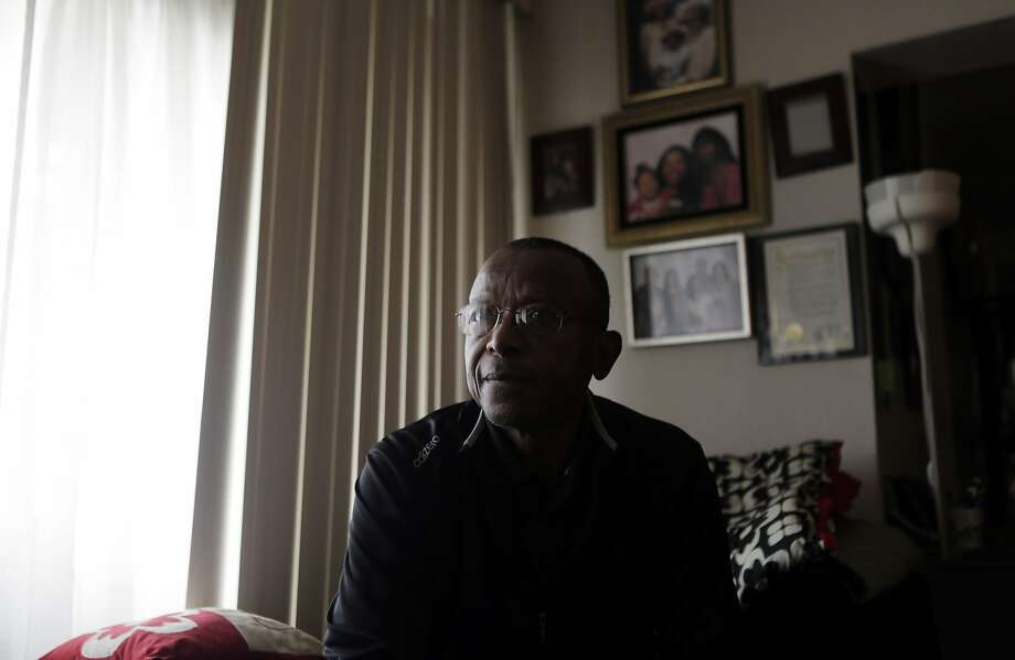 Donald Briggs in his home at Midtown Park Apartments in San Francisco on Monday, Aug. 10, 2015. Briggs has been living in his apartment since 1983 and is experiencing a minimal rent increase but is withholding his rent out of solidarity with his neighbors. Photo: Dorothy Edwards, The Chronicle