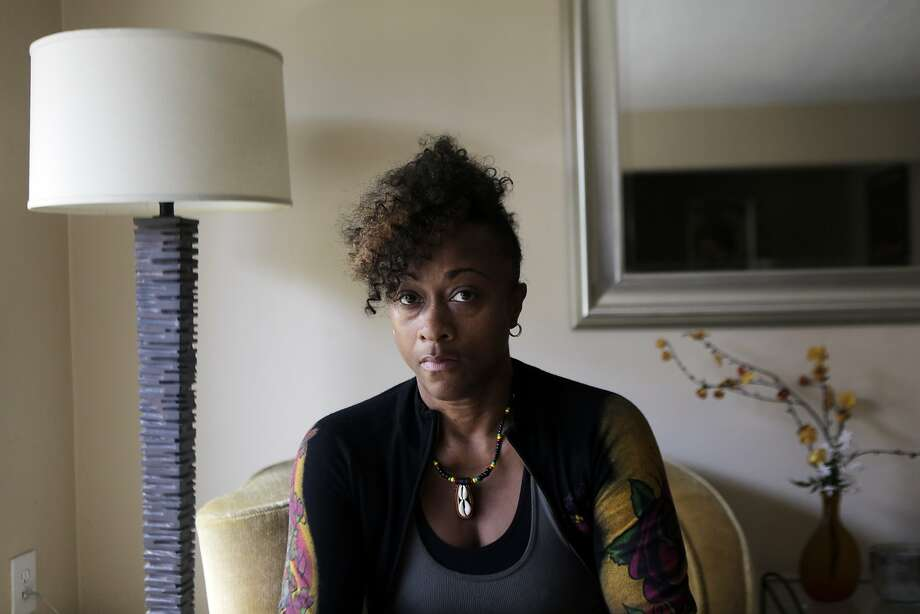 "Phyllis Bowie in her home at Midtown Park Apartments in San Francisco on Monday, Aug. 10, 2015. Bowie has lived in her apartment since 1997 and is seeing her rent increase to market rates. ""I was threatened with eviction five times,"" Bowie says. ""I'm scared."" Photo: Dorothy Edwards, The Chronicle"
