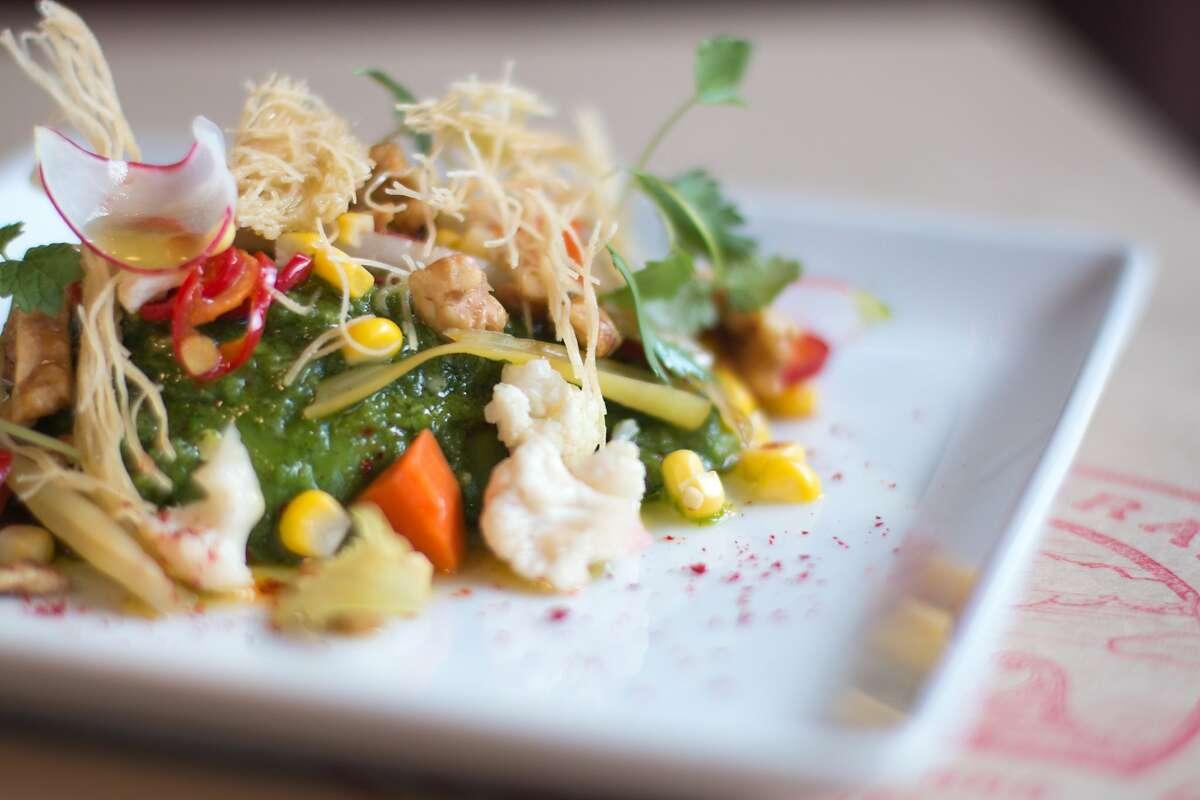Middle?•terranea: Michael Mina?•s first Test Kitchen pop-up Avocado Salatim