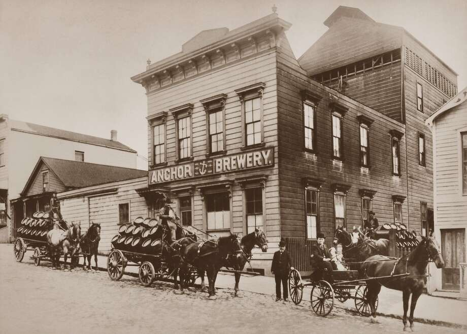 Horse-drawn carts load up at Anchor brewery in S.F. in 1906 Photo: Courtesy Of Anchor Brewing Co.