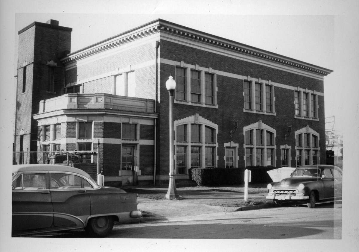 The Needle sits at the former home of the Central Fire Alarm Station at 223 Fourth Ave. N., shown here in February 1961.