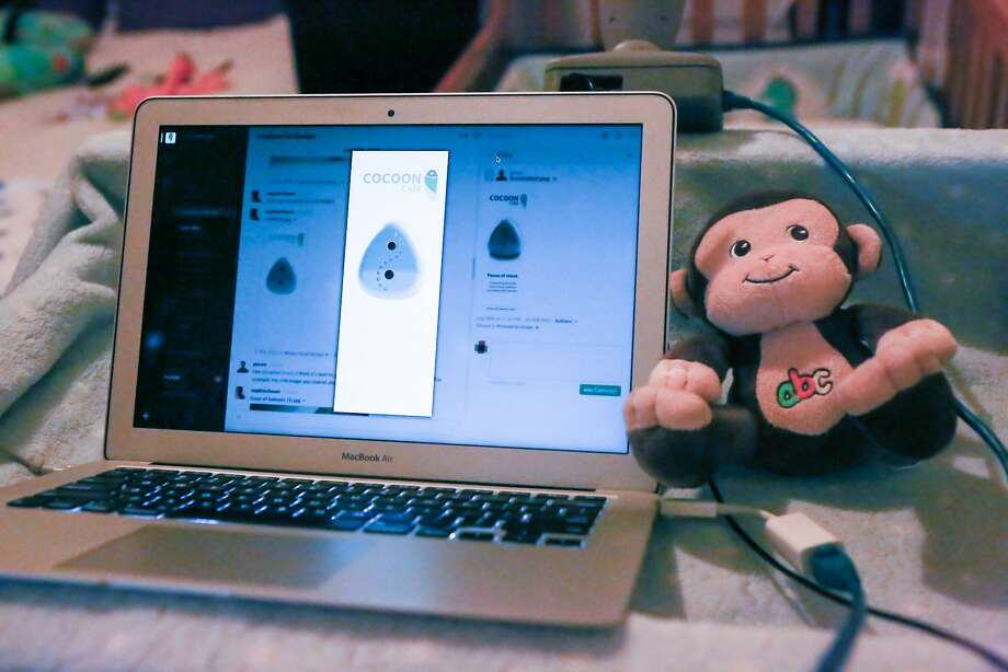 The actual production model of Cocoon Cam shown in Richmond, Calif. on Monday, August 10, 2015. Cocoon Cam allows parents to monitor their baby's respiration, heart rate and temperature without having to touch anything to the baby and without microwaves. Photo: Amy Osborne, Special To Chronicle