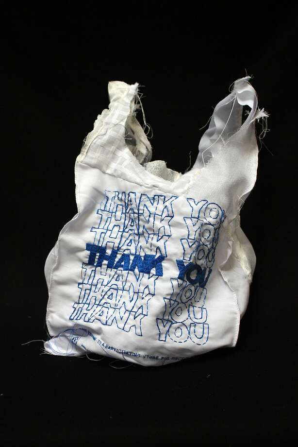 "Lauren DiCioccio's embroidered and quilted 2011 work ""Thank You Bag."" Photo: Courtesy Of Recology San Francis"