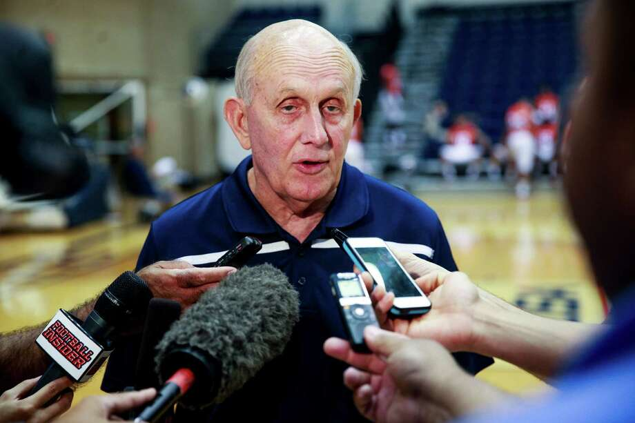 UTSA coach Larry COker speaks to reporters during Media Day on Aug. 10, 2015, at the Convocation Center on campus. Photo: Express-News File Photo / Julysa Sosa For the San Antonio Express-News