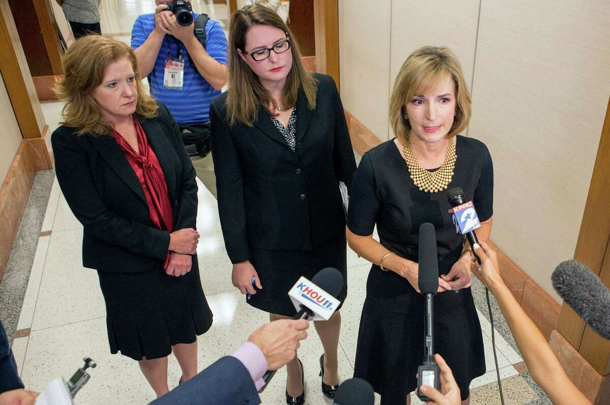 """District Attorney Devon Anderson, right, said, """"My heart goes out to the mother who received the text from her daughter that she was in trouble."""""""