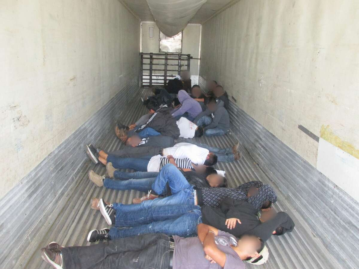 U.S. Border Patrol agents discovered 20 undocumented immigrants in a trailer driven by a U.S. citizen on Aug. 7, 2015, at the Falfurrias checkpoint in Texas, roughly 70 miles from the U.S.-Mexico border. Agents arrested the driver and referred his case to the Rio Grande Valley Sector Prosecution's North Office.
