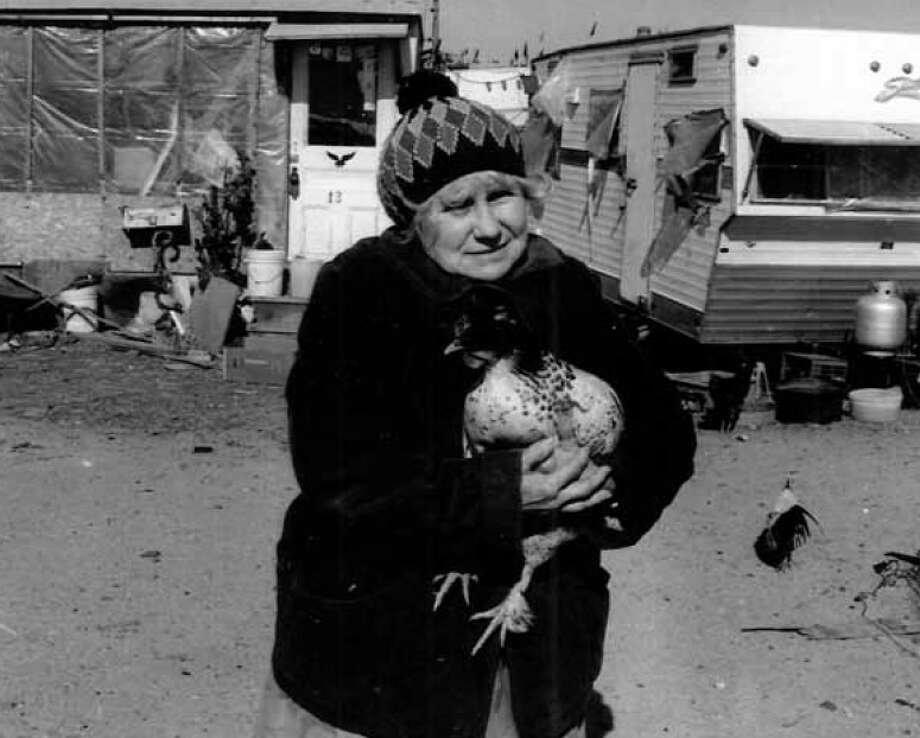 "Doris Gagnon was known as ""the Chicken Lady'"" when she lived in a trailer at Silver Sands in Milford, Conn. Photo: Walnut Beach Historical Society / Contributed Photo / Connecticut Post Contributed"