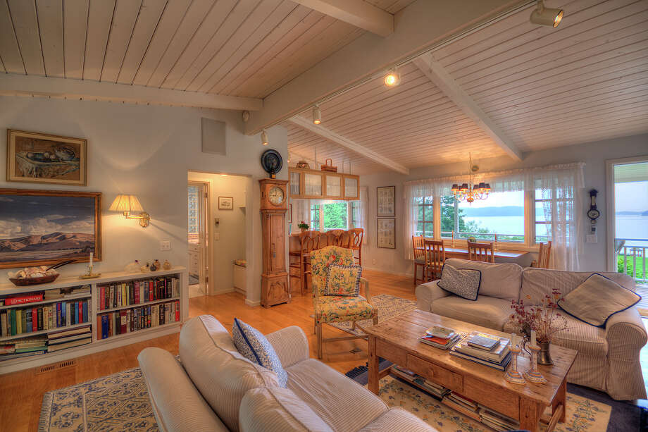 This Orcas Island home off the coast of Washington is currently on the market for $1.995 million.Interested in packing up and moving to the Pacific Northwest? Maybe just curious about this home? Head here for the full listing. Photo: Suzana Roach / OrcasIslandPhotos.com   / Suzana Roach / Orcas Island Photos