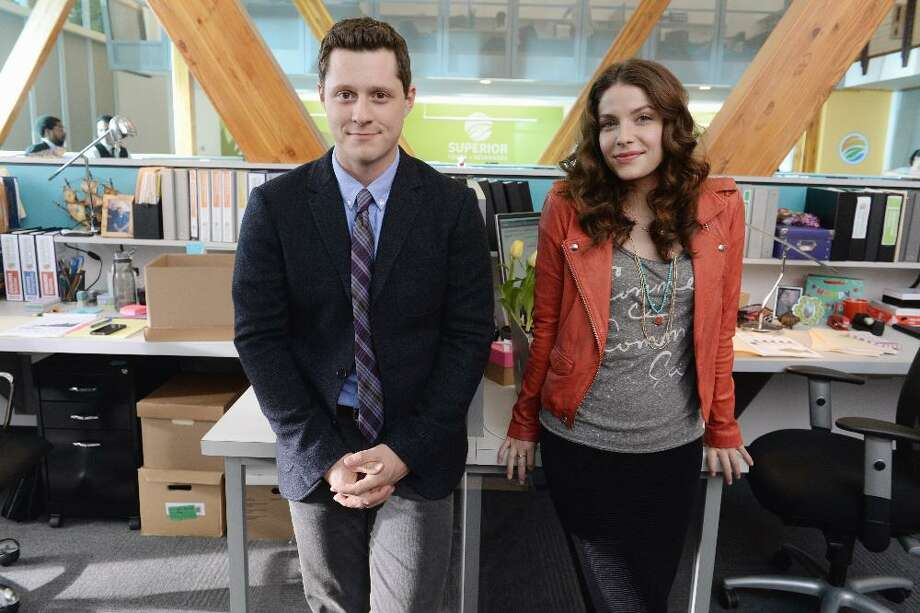 """Kevin from Work,"" a half-hour workplace comedy for twenty-somethings on ABC Family, stars Noah Reid as Kevin and Paige Spara as his office crush. August, 2015 KEVIN FROM WORK - é¢â'Å""Kevin from Worké¢â' is a half-hour workplace comedy centered on Kevin, a young man who declares his unrequited love for his coworker Audrey in a letter, believing heé¢â'â""¢ll never see her again after he accepts a job overseas. But when the opportunity falls through and Kevin is forced to return to his old job, how will he and Audrey continue to work together now that his feelings are no longer secret? The comedy stars Noah Reid (é¢â'Å""Backpackersé¢â'Å"") as Kevin, Paige Spara as Audrey, Matt Murray (é¢â'Å""Rookie Blueé¢â') as Brian, Jordan Hinson (é¢â'Å""Eurekaé¢â') as Roxie, Punam Patel as Patti, with guest star Amy Sedaris (é¢â'Å""Strangers with Candyé¢â') as Julia. (ABC Family/Eric McCandless) NOAH REID, PAIGE SPARA Photo: ABC Family/Eric McCandless, ABC Family / © 2015 Disney Enterprises, Inc. All rights reserved."