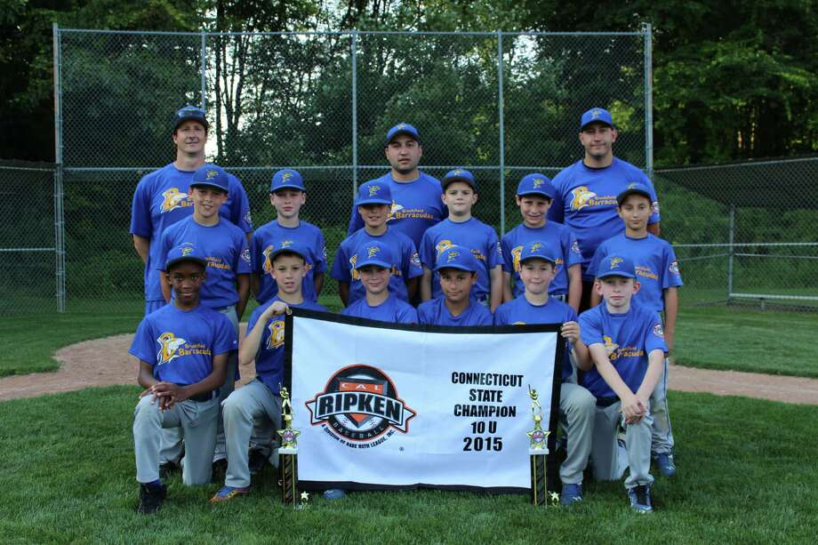 The Brookfield Barracudas won the 2015 Connecticut Cal Ripken 10U state championship. members of the Barracudas are Jake Miceli, Chris Catania, Matt Guilbeault, Cameron Cole, Casey Katz, Kyle Rosa, Connor Chnowski, Ryan Sanborn, Aidan Sarmiere, Caden Borges, Joel Zumbahlen and Zach Kanych. The team is led by head coach Rocco Miceli and assistant coaches Craig Katz, Pete Rosa, Mike Guilbeault Hand Chris Catania. Photo: Contributed Photo / Contributed / News-Times Contributed