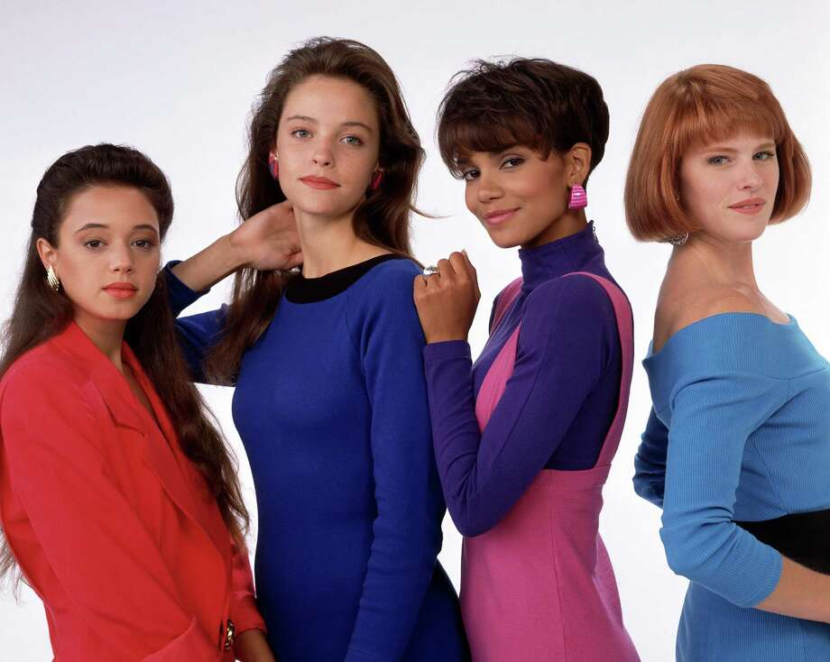 "The cast of ""Living Dolls"" from left: Leah Remini, Alison Elliott, Halle Berry and Deborah Tucker. Photo: ABC PHOTO ARCHIVES, Getty Images / ©1989, ABC Photo Archives. All rights reserved. For editorial use only. NO ARCHIVING, NO RESALE."