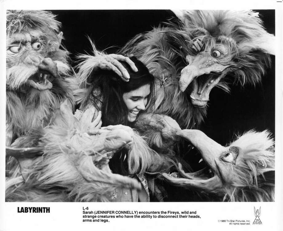 Jennifer Connelly is encountered by Fireys in a scene from the film 'Labyrinth', 1986. Photo: Archive Photos, Getty Images / 2012 Getty Images