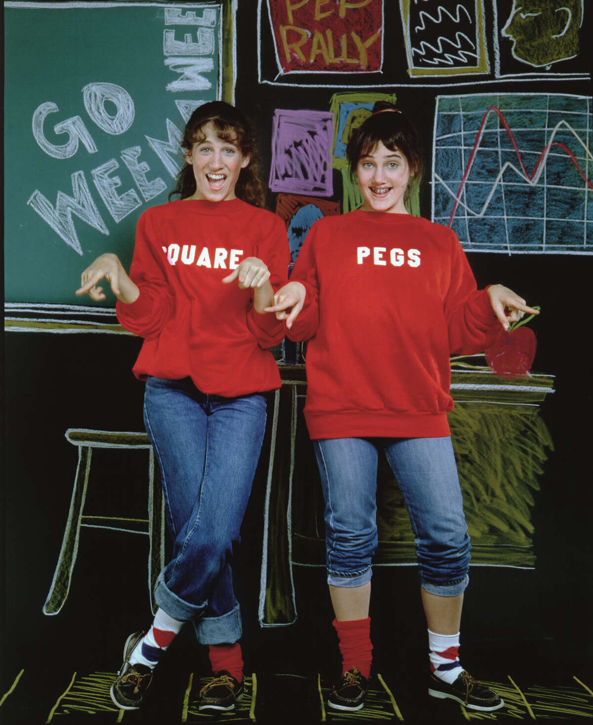 Sarah Jessica Parker as Patty Greene, left, and Amy Linker as Lauren Hutchinson. Image dated 1982.