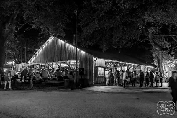 Dance hall by night.   www.luckenbachtexas.com