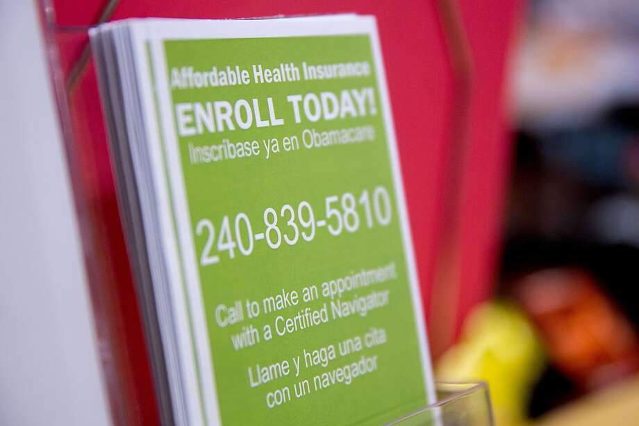 "An Obamacare enrollment informational pamphlet sits on display at a Community Clinic Inc. health center in Silver Spring, Maryland, U.S., on Wednesday, April 8, 2015. Led by the American Medical Association, three of the top five spenders on congressional lobbying have waged a campaign to urge Congress to revamp the way Medicare pays physicians and end the cycle of ""doc fix"" patches. Senate leaders predict quick action on House-passed legislation when Congress returns April 13 from its two-week recess. Photographer: Andrew Harrer/Bloomberg Photo: Andrew Harrer, Bloomberg"