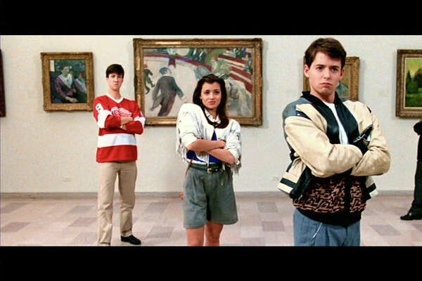 "The 1986 John Hughes film, ""Ferris Bueller's Day Off"" is being screened at the Warner Theatre in Torrington on Friday, Aug. 21, with a 1980s dance party after the movie. The movie featured, from left, Alan Ruck, Mia Sara, and Matthew Broderick."