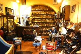 If you head for off-the-beaten-path neighborhoods in Europe, you're more like to find small family businesses eking out an existence for another generation — like this cobbler's shop in Florence. cobbler.JPG - RS spring 2015 - add original filename