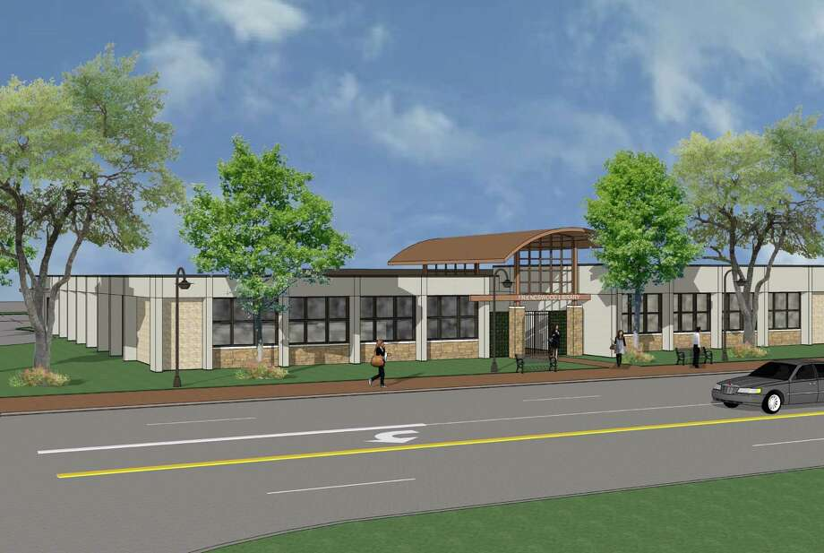 This rendering shows what the remodeled Friendswood Library will look like from South Friendswood Drive. Renovation is expected to be completed by April.