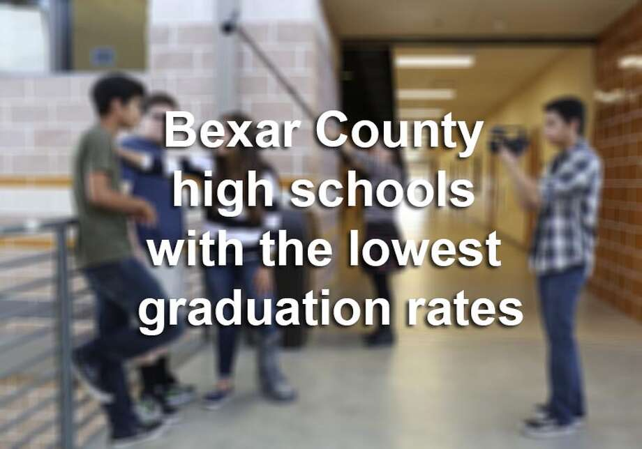 Scroll through to see which 20 high schools in Bexar County had the lowest graduation rates during the 2013-14 school year.(Note: This excludes charter schools, magnet schools and alternative high schools.)Source:Texas Education Agency Photo: Lisa Krantz, File / SAN ANTONIO EXPRESS-NEWS