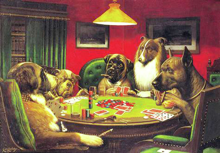 """Columnist Thomas Lawlor, who recently sorted through his late mother's belongings with his siblings, writes: """"I already had what I wanted from my aunt's house. When she died, I got a cheap reproduction of dogs playing poker that she had in her bathroom. Family legend was that my Uncle Bill won it in a bar bet, and took it off the wall of the bar more than 65 years ago."""" Photo: Contributed Photo / Fairfield Citizen"""