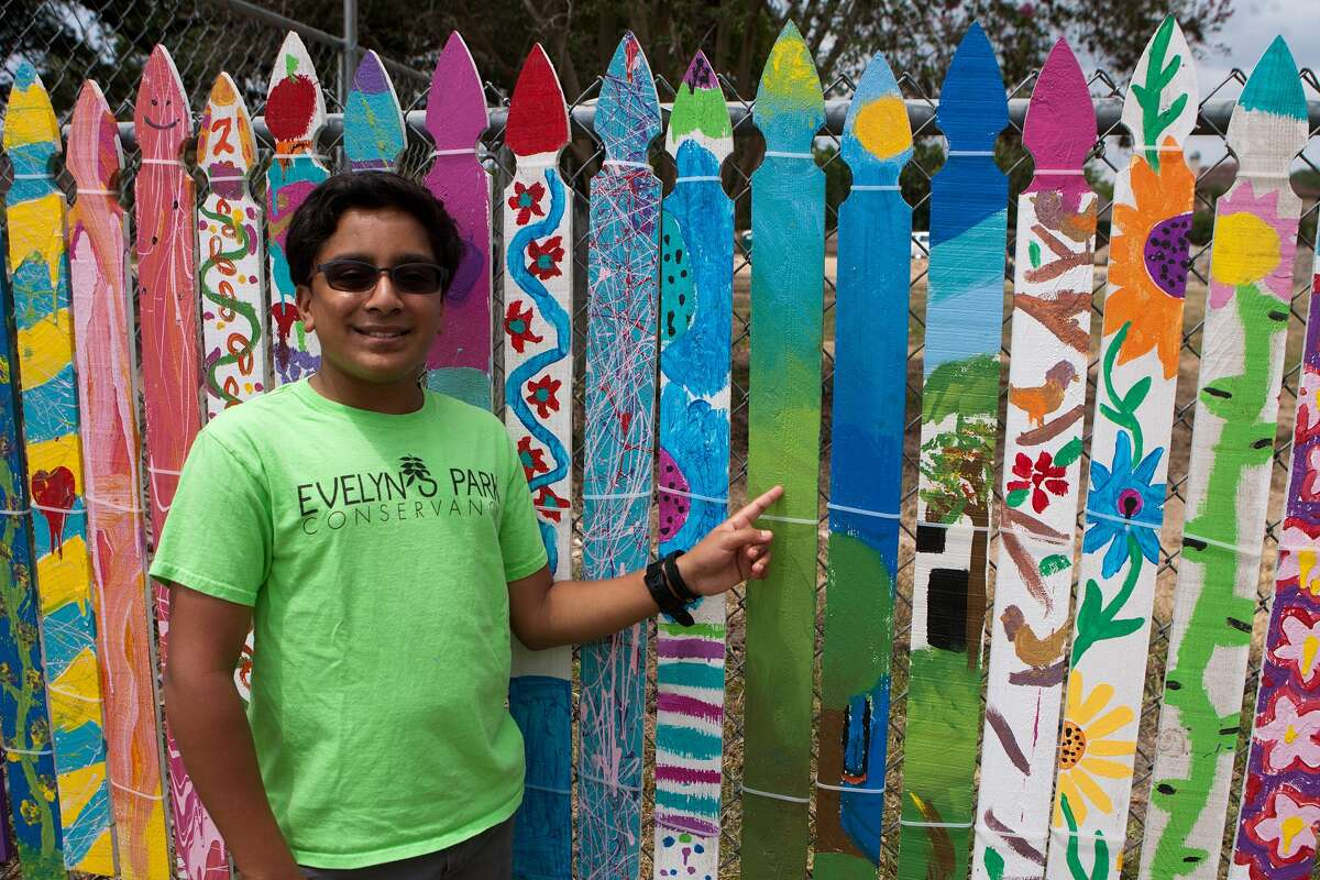 Hrishabh Bhosale, 14, is one of the Teen Ambassadors for Evelyn's Park in Bellaire. Bhosale says the ambassadors help out at park events, doing setup and takedown, manning tables, and assisting visitors.