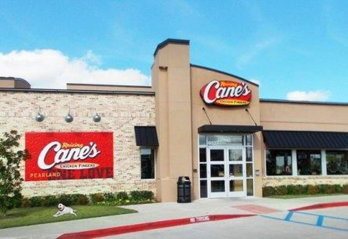 The exterior of Raising Cane's Chicken Fingers at 9527 W. Broadway St. in Pearland. The quick-service restaurant will soon have a sister store when a second Raising Cane's opens in the city at 1601 Broadway St.