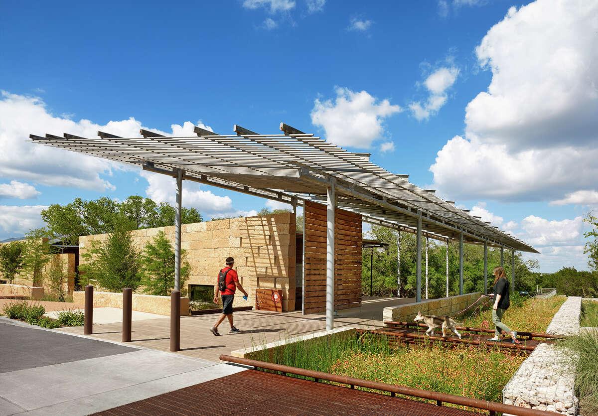 Lake Flato architects designed the Urban Ecology Center at Phil Hardberger Park.