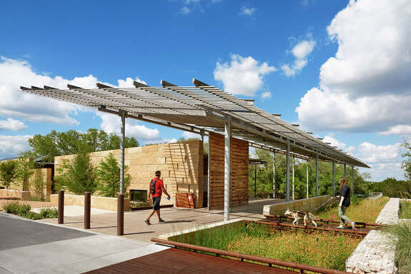 Lake|Flato architects designed the Urban Ecology Center at Phil Hardberger Park.