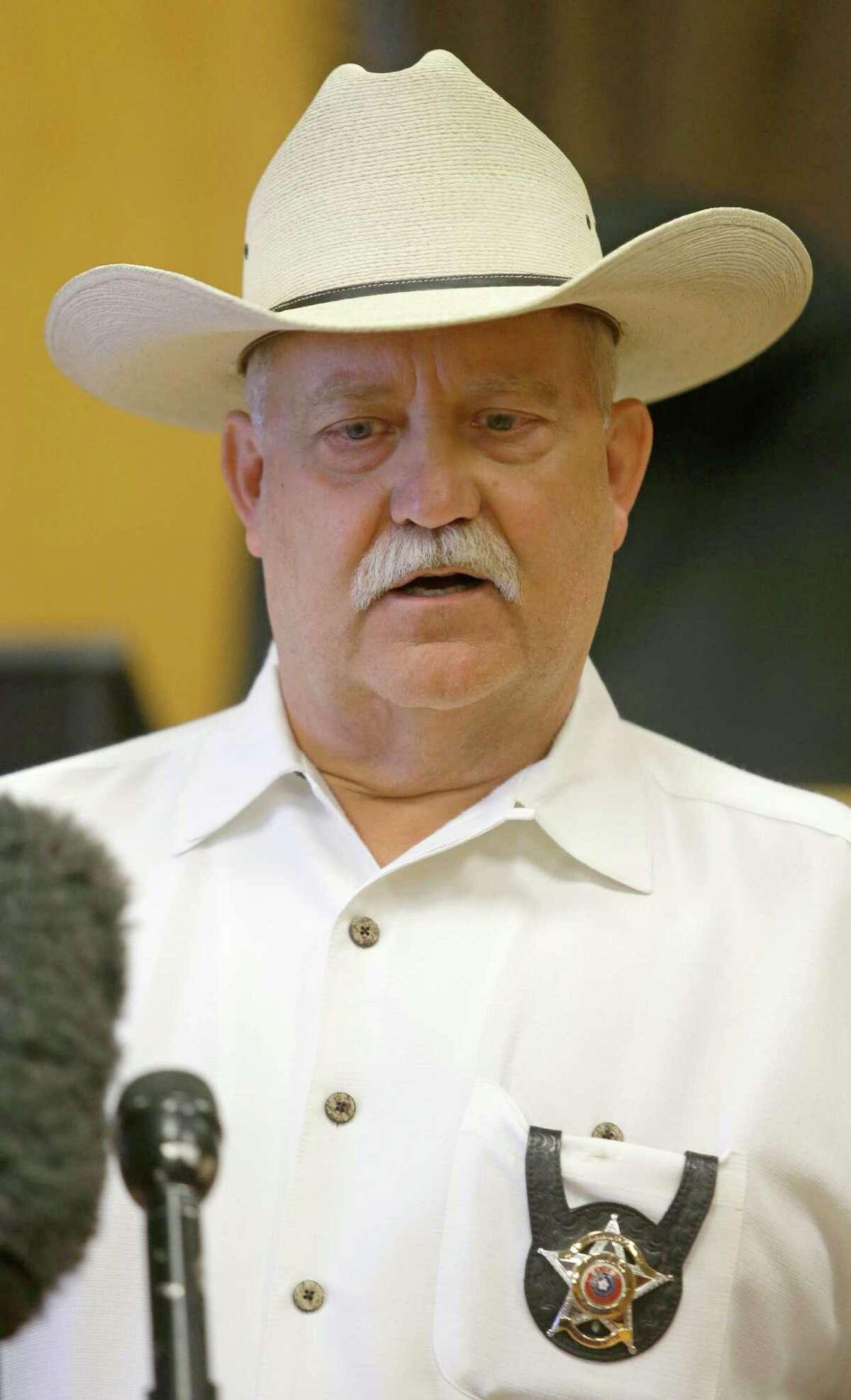 Waller County Sheriff R. Glenn Smith speaks to the media Thursday, July 16, 2015, in Waller.