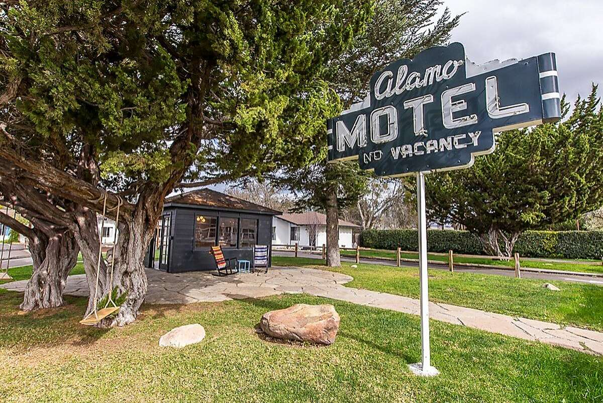 the refurbished Alamo Motel, a 1940s motor court with glowing neon sign, is short on luxury but high on style.