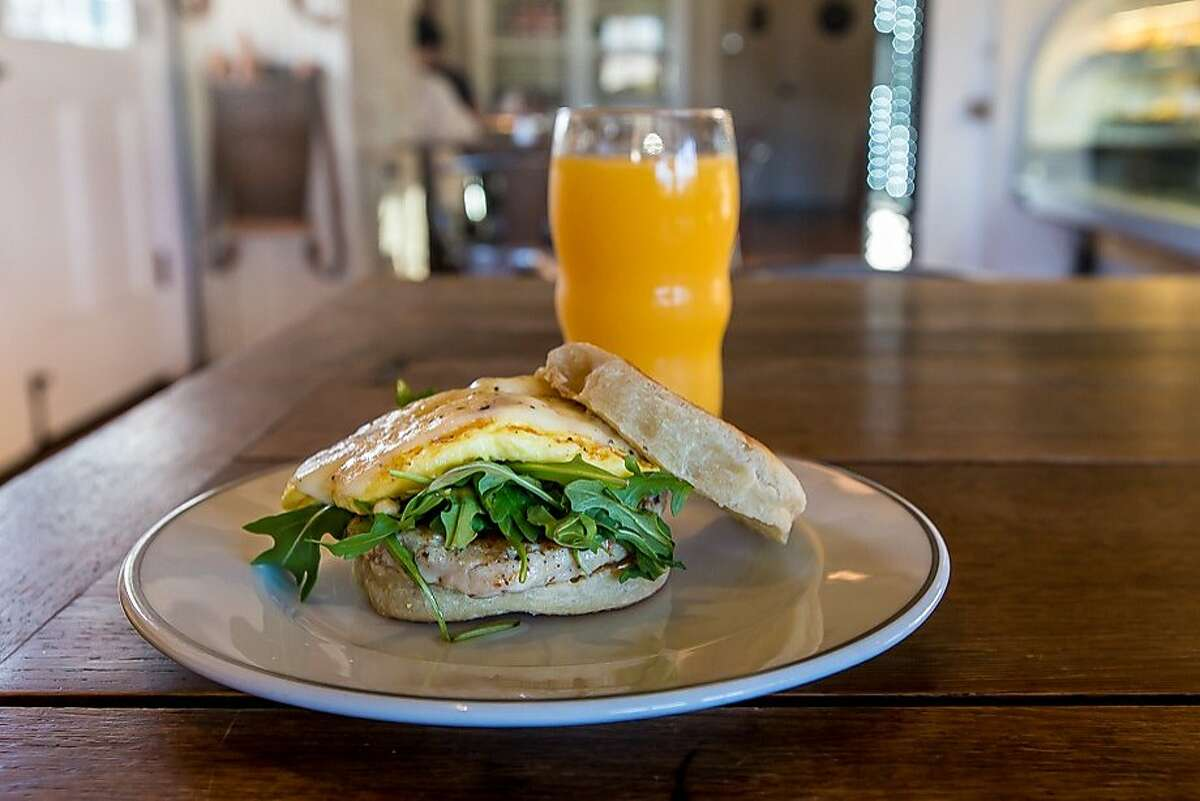In the morning, fluffy English muffin breakfast sandwiches from Bob's Well Bread are a must.