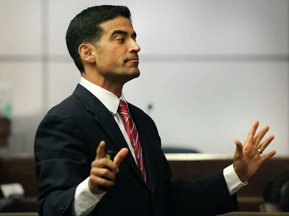 Bexar County District Attorney Nicholas LaHood makes closing arguments inthe 437th State District Court, in the case against Jessie Hernandez Jr. on Tuesday, August 11, 2015, who is accused of shooting two police officers. Photo: Bob Owen, Staff / San Antonio Express-News / San Antonio Express-News
