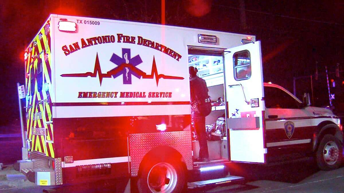 A man and woman were hospitalized Wednesday morning following a motorcycle crash on the North Side.