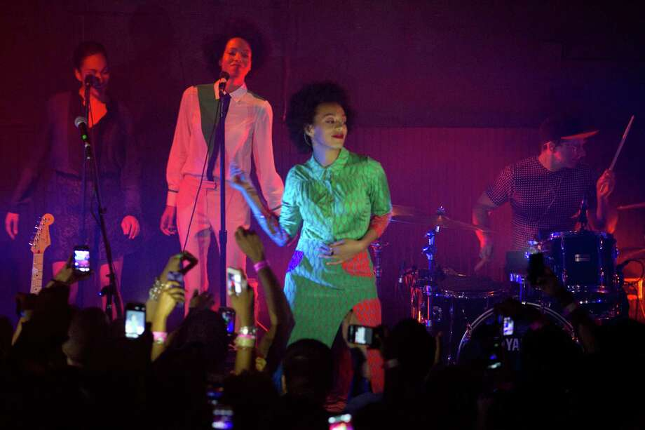 Solange Knowles performs at Fitzgerald's Tuesday, March 12, 2013, in Houston. (  / Chronicle ) Photo: Staff / © 2013 Houston Chronicle