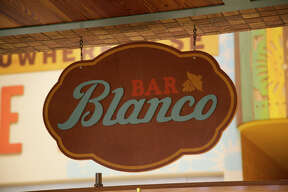 The sign at Bar Blanco.