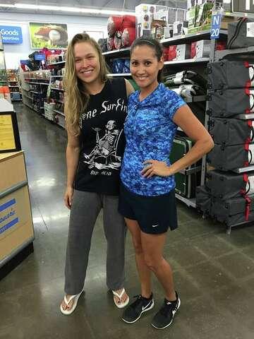 Ufc Champion Ronda Rousey Just Bought A Fishing License At A Texas Wal Mart Expressnews Com