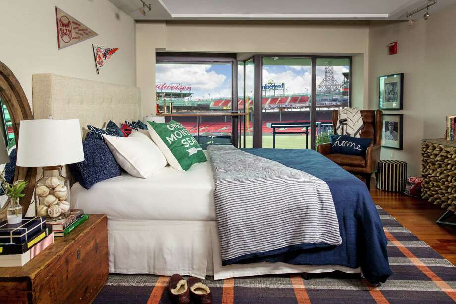 Airbnb is holding a contest for two lucky fans to spend the night at Fenway Park. The winner and a friend will stay in this room looking out over the field. Photo: Airbnb / Connecticut Post Contributed