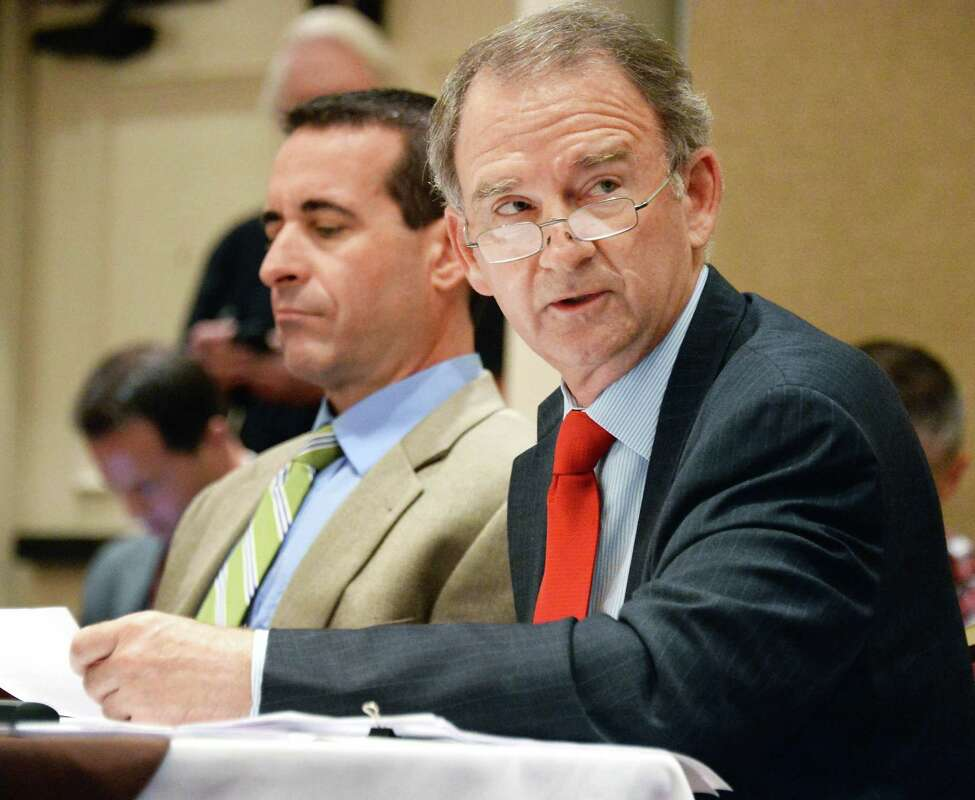 Christopher Kay, CEO of the New York Racing Association speaks during a NYRA board meeting at the Holiday Inn Wednesday August 12, 2015 in Saratoga Springs, NY. (John Carl D'Annibale / Times Union)