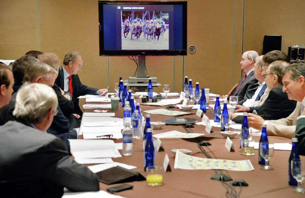 The New York Racing Association board meets at the Holiday Inn Wednesday August 12, 2015 in Saratoga Springs, NY. (John Carl D'Annibale / Times Union)