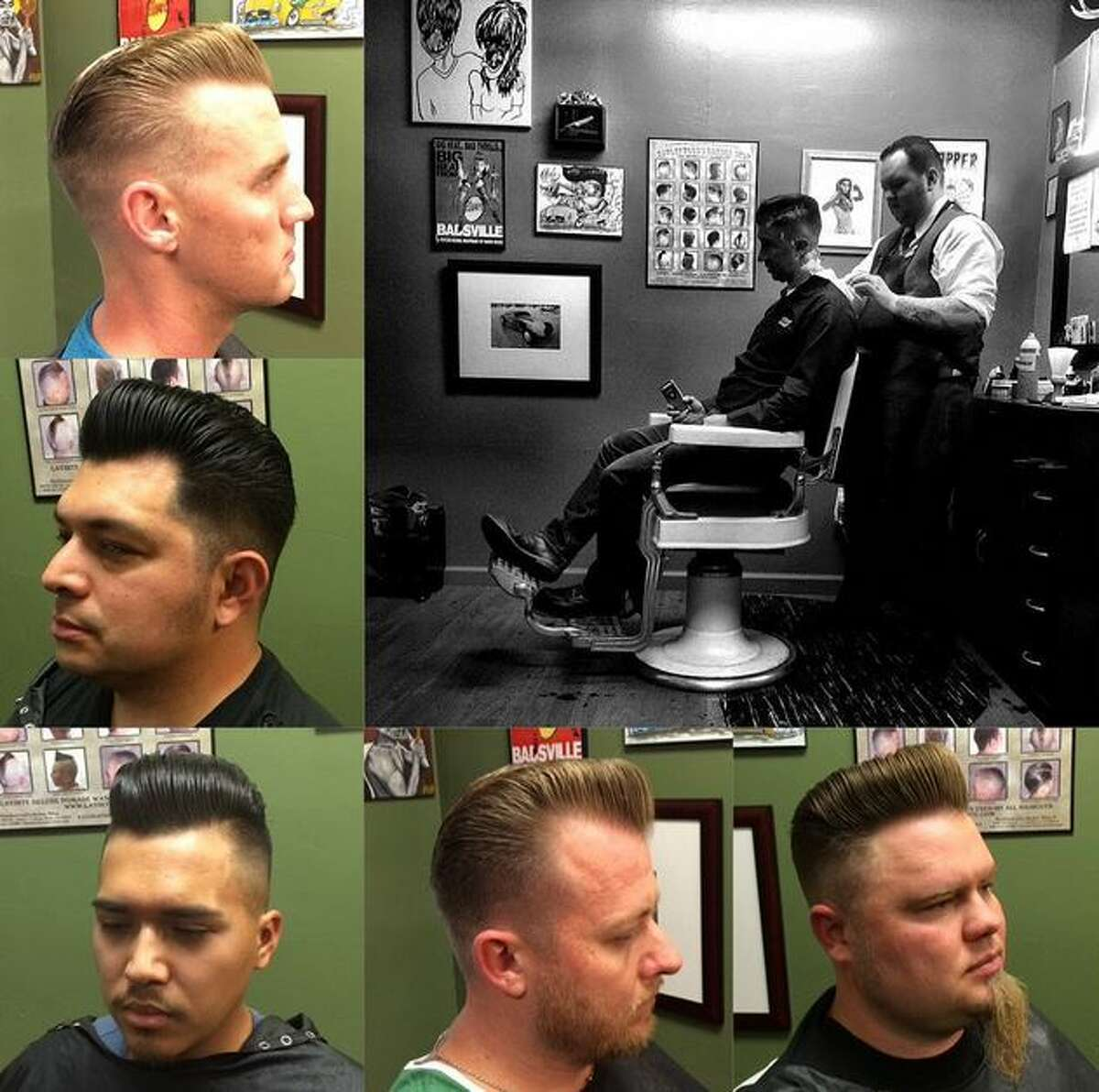 Chris Zepeda Specialties: traditional haircuts, especially the pompadour Experience: 11 years Find him at: Clippers Barber Shop 6991 Blanco Rd., 78216
