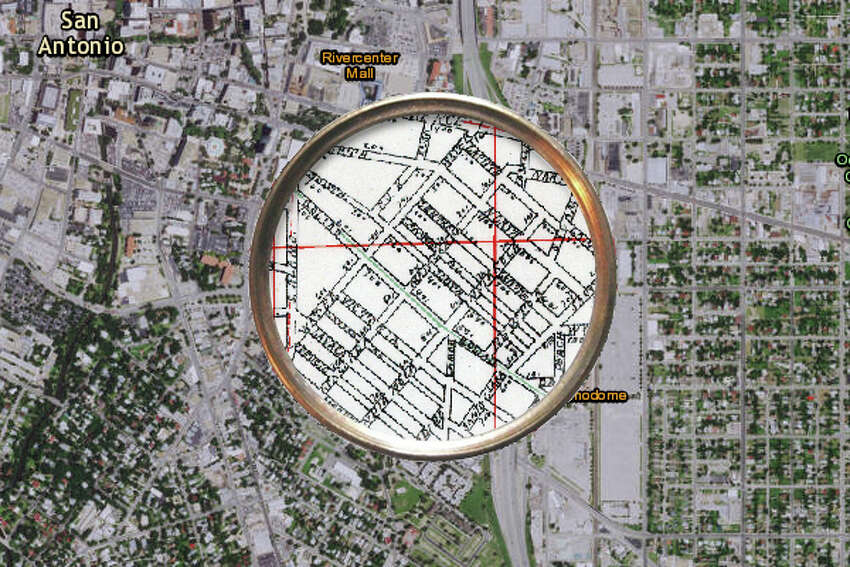 In 1895 this area was divided up into much smaller blocks.