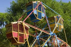 The ferris wheel is a favorite at Kiddie Park.